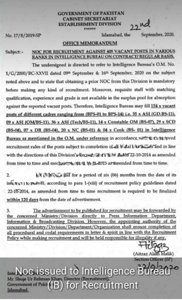 Intelligence Bureau IB Jobs 2020